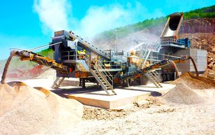 new FABO PRO-150 MOBILE IMPACT CRUSHER WITH SCREEN FOR LIMESTONE mobile crushing plant