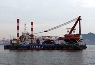 SUMITOMO SKK 500TON FLOATING CRANE(15M3 BUCKET CAPACITY) portal crane